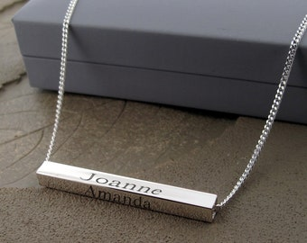 a0e06af860b8e The Name Necklace & Personalised Silver & by christopherjamesuk