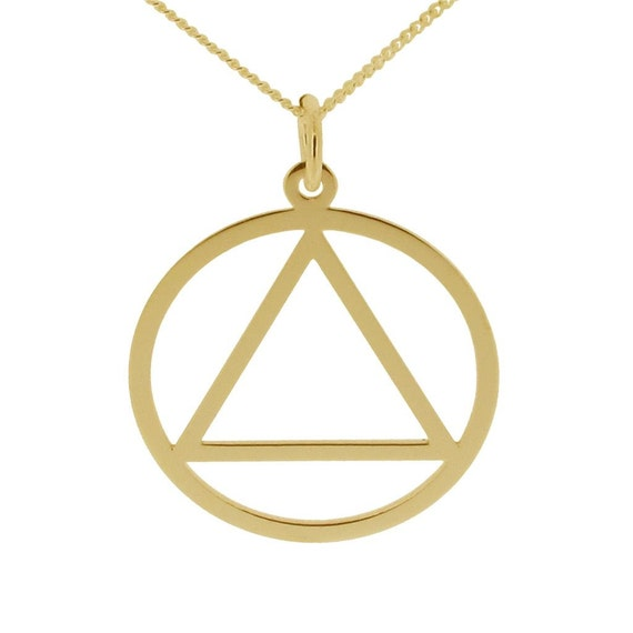 Sobriety Symbol Aa Pendant Necklace Sobriety Jewellery Etsy