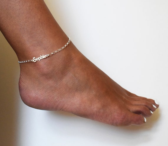 Unique Ankle Jewelry Anklet Name Jewelry Custom Ankle Name Bracelet Personalized Name Bracelet Personalized Ankle Bracelet