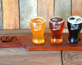 personalized beer flight paddles etsy