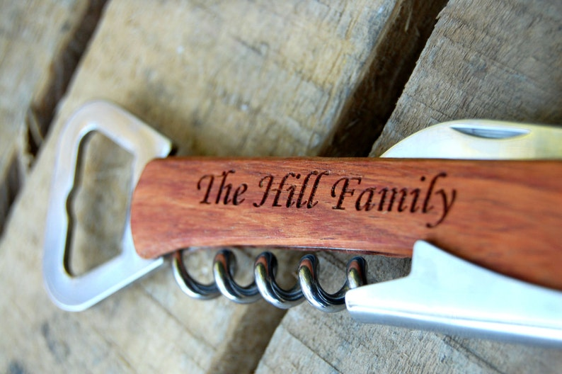 Outdoor Gift Men  Bottle Opener  Personalized Groomsmen Gift Wedding  Father of the Groom Father of the Bride  Home Bar Gifts for Dad