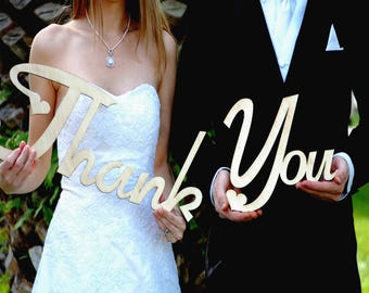 Rustic Wedding Decor / Thank You Sign / Rustic Wedding Sign / Wedding Thank You Sign / Wood Thank You Sign / Wedding Reception Decor/ Thanks