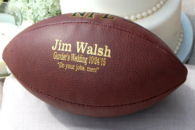 Personalized Football Ring Bearer Gift Groomsmen and Best image 0