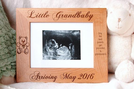 New Baby Boy Gift Ultrasound Frame Baby Shower Gift Teddy