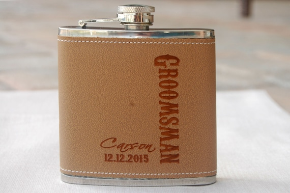 Best Man Gift Personalized Flask Wedding Reception Gift Etsy