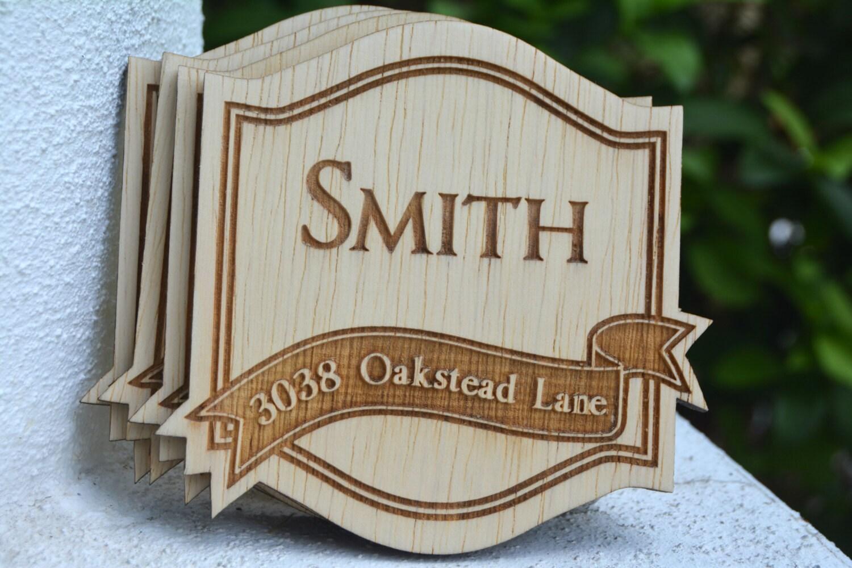 Personalized Coasters Wedding Gift: Groomsmen Gift 4 Personalized Coasters Wedding Favors Farm