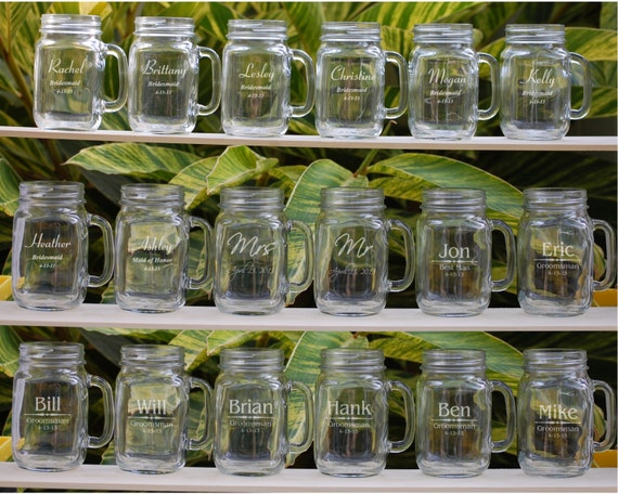 19 Wedding Favors Mason Jar Mug Groomsman Gifts Wedding Etsy