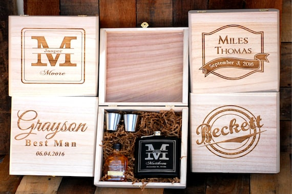 personalized flask best friend gift best man gift idea asking etsy