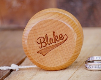 Ring Bearer Keepsake Yo-Yo Custom Name Ring Bearer Thank You Gift Personalized Yo Yo Ring Bearer Wedding Gift Wedding Thank You Wood Yo-Yo