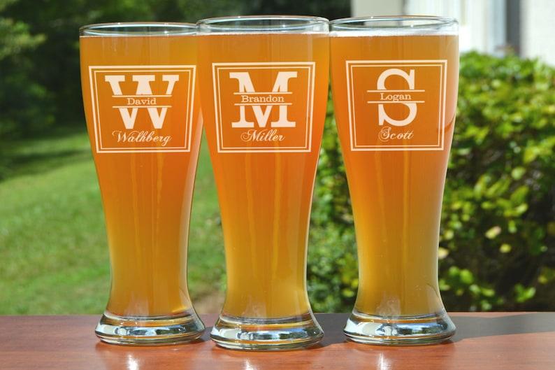 Engraved Beer Mug Groomsman Gift Personalized Groomsmen Beer image 0