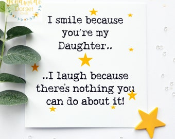Card For DaughterFunny CardDaughter Carddaughters Birthdaybirthday Cardhumorous Cardfunny Daughter Birthday Cardcard My