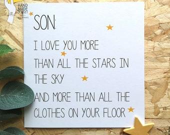 Card For SonFunny Sonsons Birthday Cardteenage Sonrecycled Son Cardjoke Cardeco Friendly
