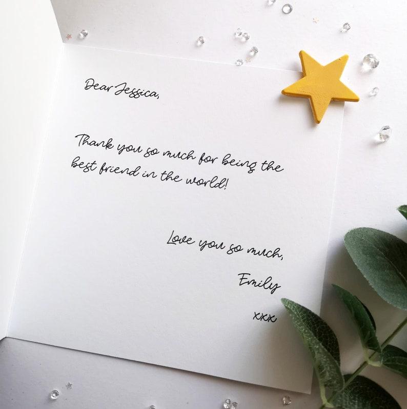 Message Inside Card Written Printed Write A