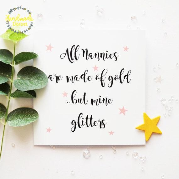 Nanny Card For Nannycard Nan Birthday