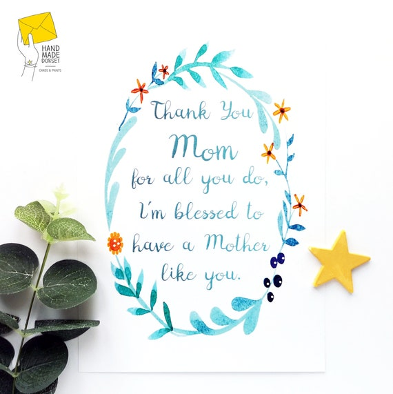 A3 Poster I Love My Mum Gift Birthday Christmas Stocking Filler
