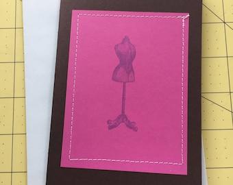 Dress Form #2 Birthday Card
