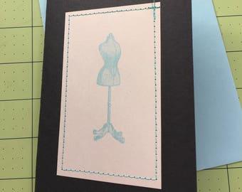 Dress Form Greeting Card