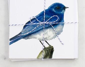 Mountain Bluebird Watercolour Card Set (4 Cards)