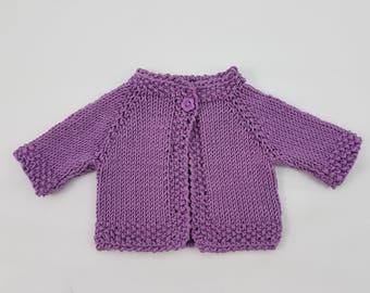 """Waldorf Doll Sweater (fits 14"""" dolls), Rubens Barn Cutie, Bamboletta Baby, 14"""" dolls clothes, mini silicone reborn dolls."""