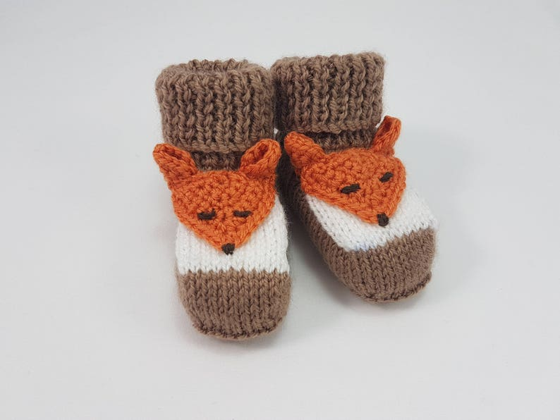 be33864c8024 Foxy Booties. UK Size 2 Up to 6 Months fox baby booties