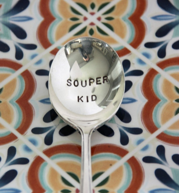 Stamped 'Souper Kid' spoon