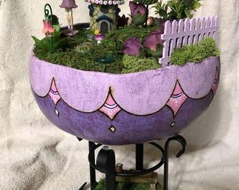The Purple Gourd Fairy Garden