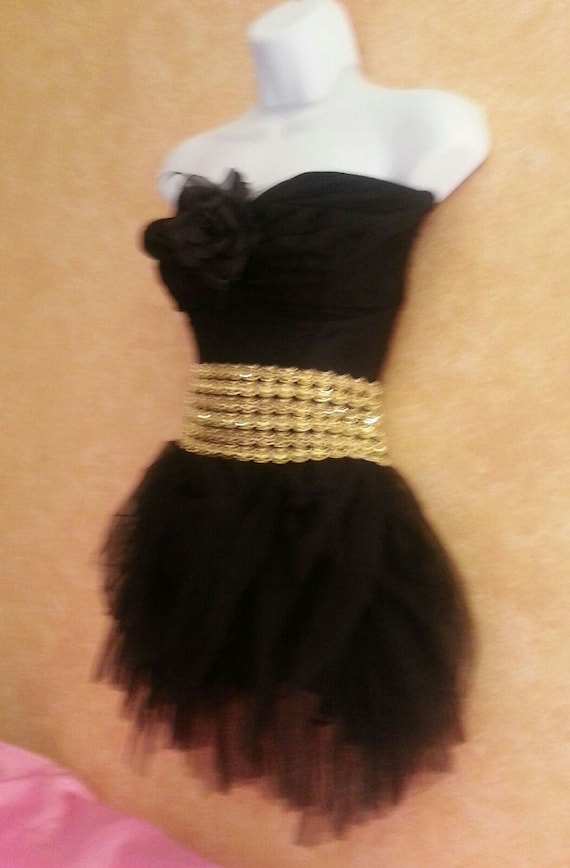 Dress Mini amp; more Tulle Sweetheart Formal Sexy Tutu Gold and Corset Bridal Party Wedding Black Club Neckline colors fabrics Rzx8C