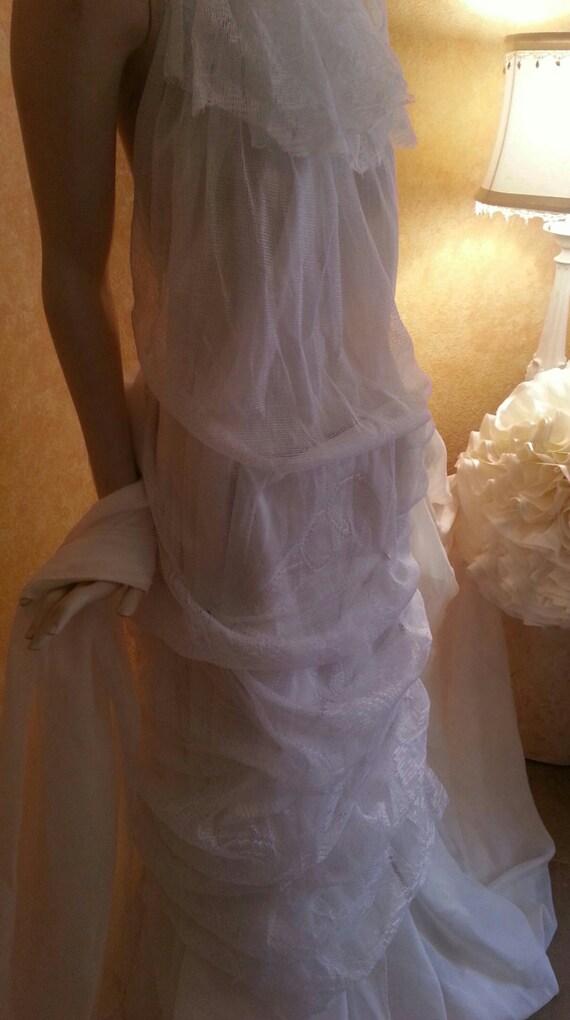 With Faux Sheath Rhinestones And Style Pearls Beautiful Gown Bohemian Beach Gypsy Wedding Mermaid Bridal Garden Boho Hippie Party qBBn08WR