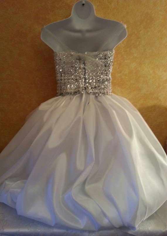 Illusion Taffeta Fairy Bohemian Beautiful Bridal Dress Rhinestone Order Silver Princess Listing Wedding Custom Mesh Gown Crystal Tutu qr0w85xwX