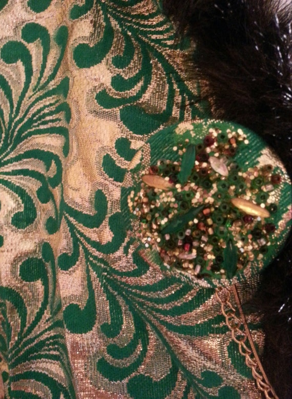 Sexy Green Jacket Emerald Club Metallic Gold Gypsy Mink Shrug And Bolero Faux Bridal Bohemian Party rqRtE6wxr