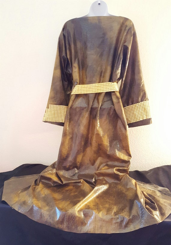 Tudor Party Style Gown Theatrical Costume Robe Alligator Bridal Dress Inspired Wedding amp; Gold Faux Green Kimono gZgqrw