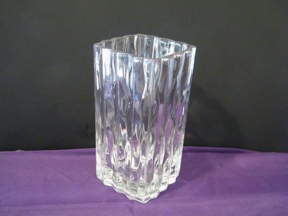 Mikasa Studio Nova Luay Crystal Vase Vintage Square Tall Vase Etsy