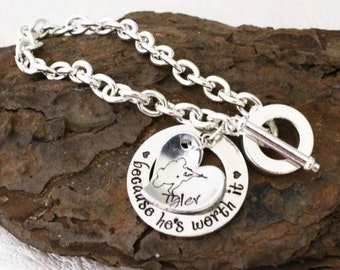 Bangle Soldier Wife  Girlfriend Hand Stamped Armed Forces Deployment Gift Lord Protect Him while He Protects Us Military Wife Bracelet