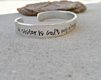 Sister Bracelet - Sister Jewelry - Sister Gift - Sisters Bracelet - Sisters - Sisters Jewelry - Gift for Sisters - Personalized Sister Cuff