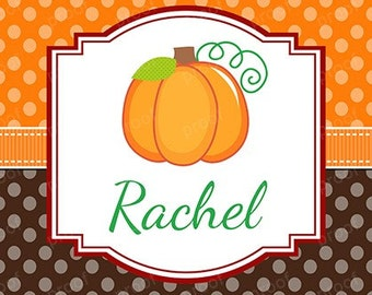 Autumn Pumpkin Thanksgiving Personalized Notebook or Notepad - Gift - Party Favor - Stocking Stuffer