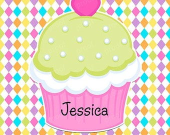 Heart Cupcake Personalized Notebook Notepad or Planner
