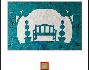 Park Bench Applique Quilt Pattern