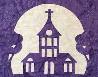 Small Town Church Applique Pattern
