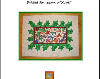 Holly Jolly Christmas Placemat And Table Runner Quilt Pattern