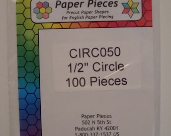 Circle Paper Pieces for Applique and English Paper Piecing