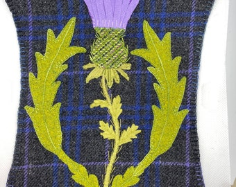 Thistle Wool Appliqué Kit, Thistle Challenge Kit, finish as desired