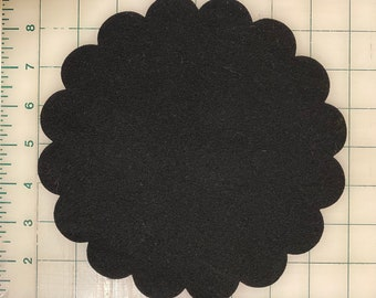 """Scallop Circle 8"""" Penny Rug or Candle Mat Blanks Sixteen Scallop Perimeter"""
