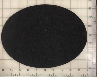 """Oval 10"""" x 7 1/2"""" Felted Wool Blank Penny Rug, Candle Mat or Sign Background"""