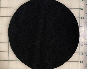"""Circle 10"""" Round Felted Wool Blank Penny Rug, Candle Mat or Sign Background"""