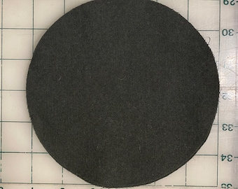 """Circle 8"""" Felted Wool Blank Penny Rug, Candle Mat or Sign Background"""