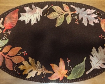 Faded Falling Leaves Felted Wool Diecut Applique Kit