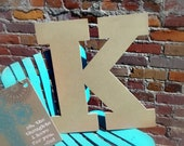 Big Wooden Letters, Wall Hanging Craft, DIY Wood MDF, Rockwell K