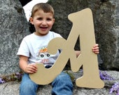 Wooden Custom Letters, Unfinished Wall Decor, Paintable Wood Craft Beltorian A, Craft Letter, Full Alphabet Available, Art and Decor Letter