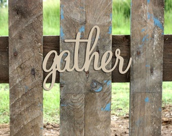 Gather- Unfinished MDF Word