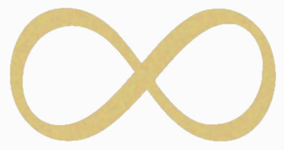 Infinity Symbol Unfinished Wooden Craft Shape Do It Yourself Etsy